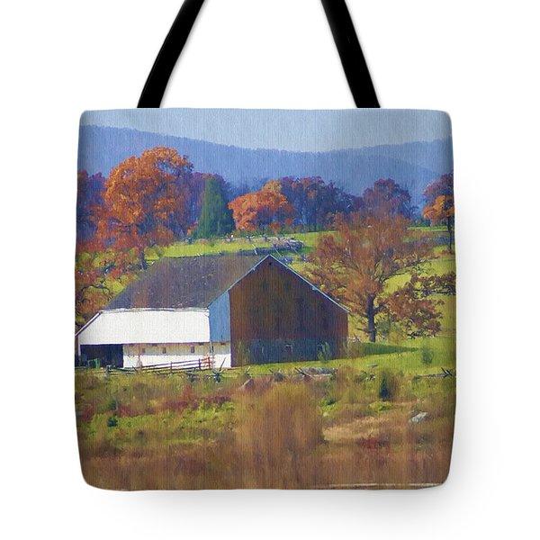 Gettysburg Barn Tote Bag by Bill Cannon