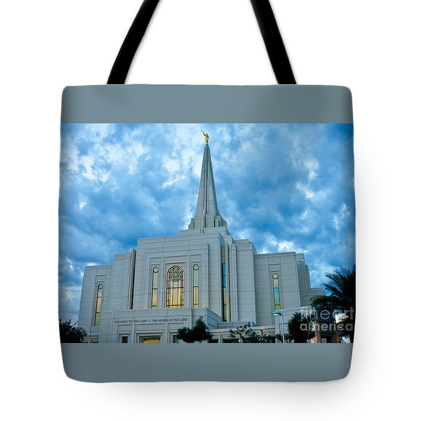 Gilbert Arizona Lds Temple Tote Bag
