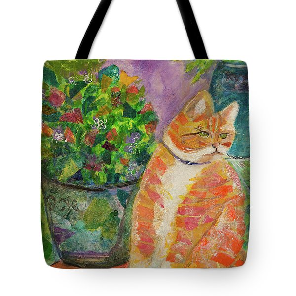 Ginger With Flowers Tote Bag