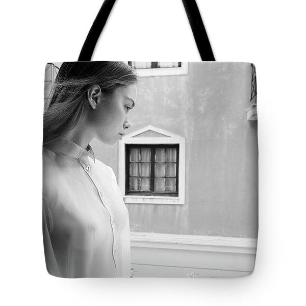 Girl In Profile Tote Bag