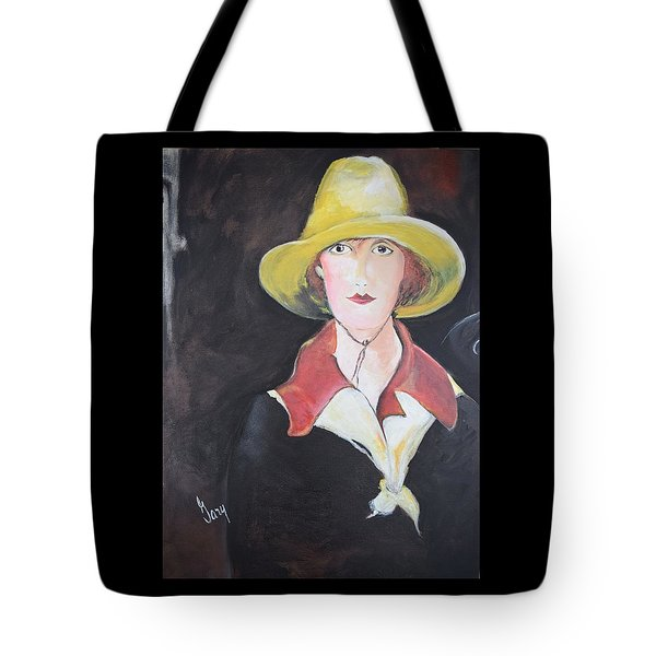 Girl In Riding Hat Tote Bag