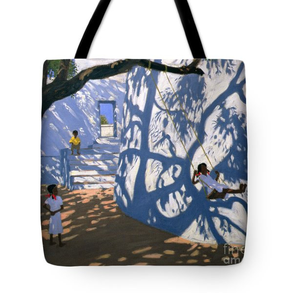 Girl On A Swing India Tote Bag by Andrew Macara