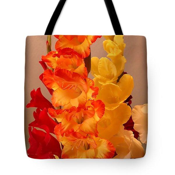 Gladiolas Tote Bag by Farol Tomson