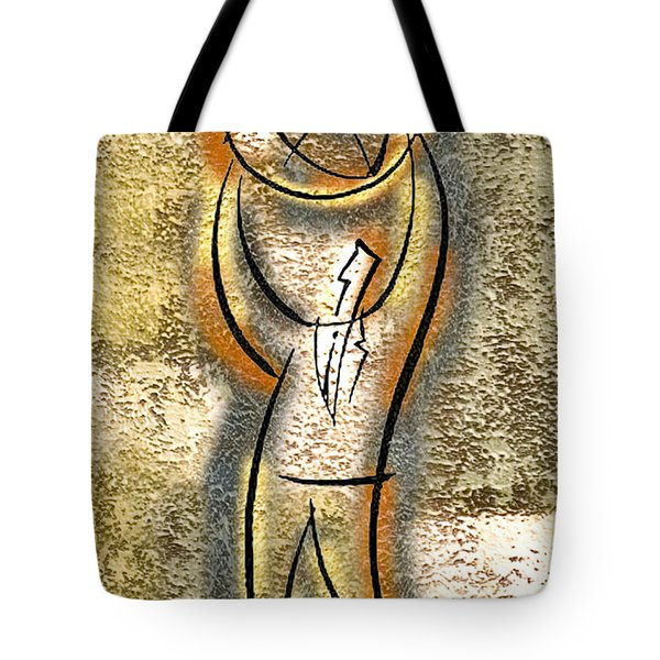 Tote Bag featuring the painting Globalization  by Leon Zernitsky