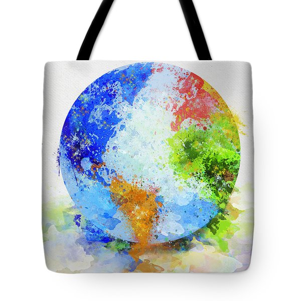 Globe Painting Tote Bag