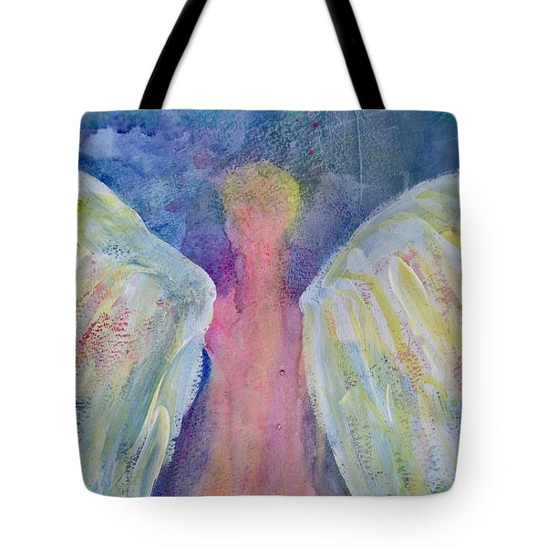 Glowing Angel Tote Bag by Jeanne MCBRAYER
