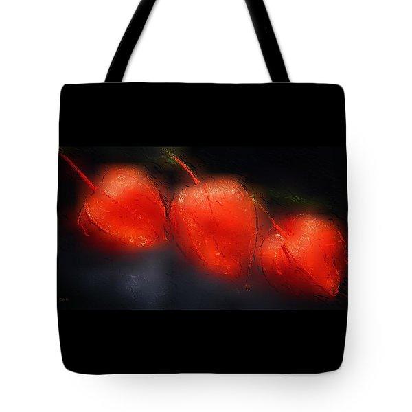 Glowing Orange Tote Bag by Gabriella Weninger - David