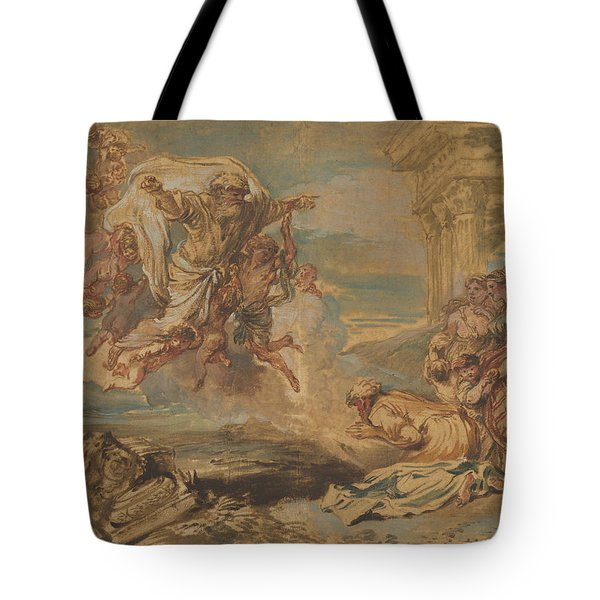 God The Father Appearing To Jacob Tote Bag