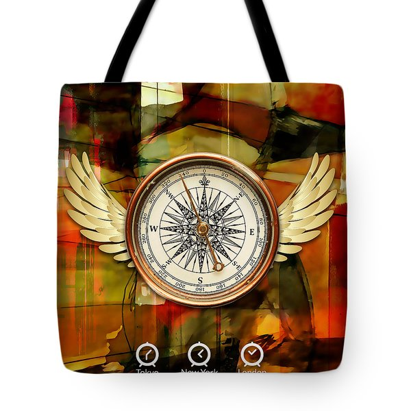 Tote Bag featuring the mixed media Going Somewhere by Marvin Blaine