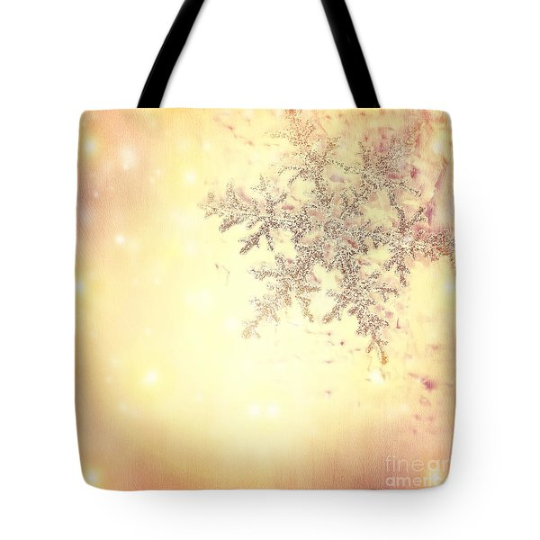 Golden Christmas Background Tote Bag