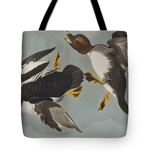 Golden-eye Duck  Tote Bag by John James Audubon