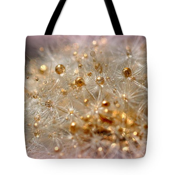 Golden Flower Tote Bag