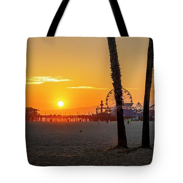 Golden Glow At Sunset Tote Bag