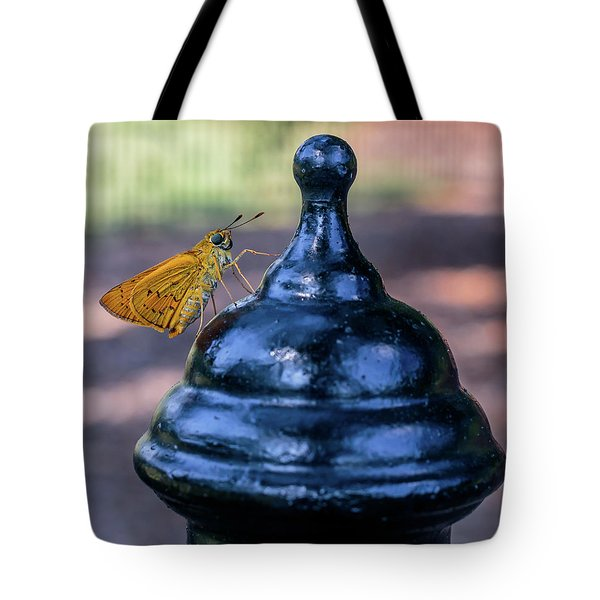 Golden Moth Tote Bag