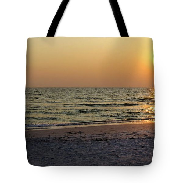 Golden Setting Sun Tote Bag by Angela Rath