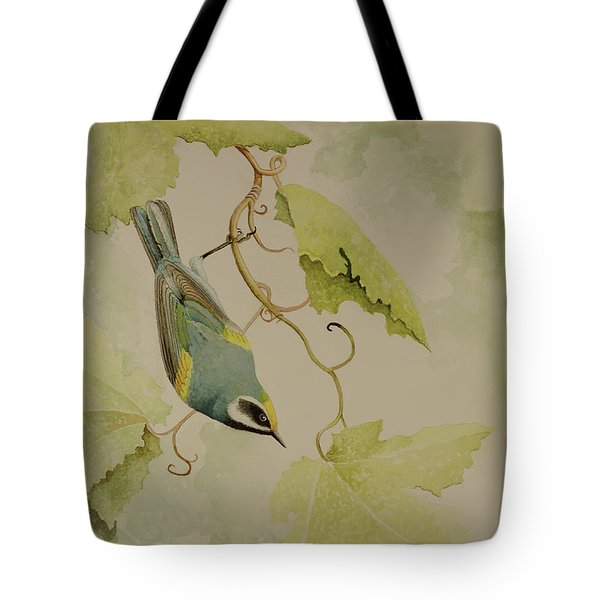 Golden-winged Warbler Tote Bag