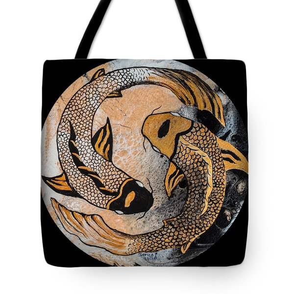Golden Yin And Yang Tote Bag