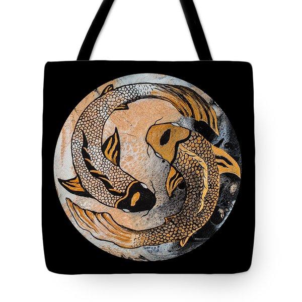 Golden Yin And Yang Tote Bag