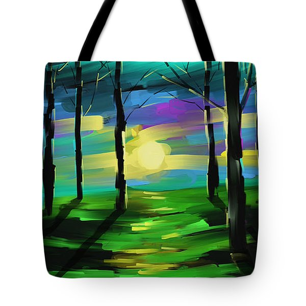 Tote Bag featuring the painting Good Morning Sunshine  by Steven Lebron Langston