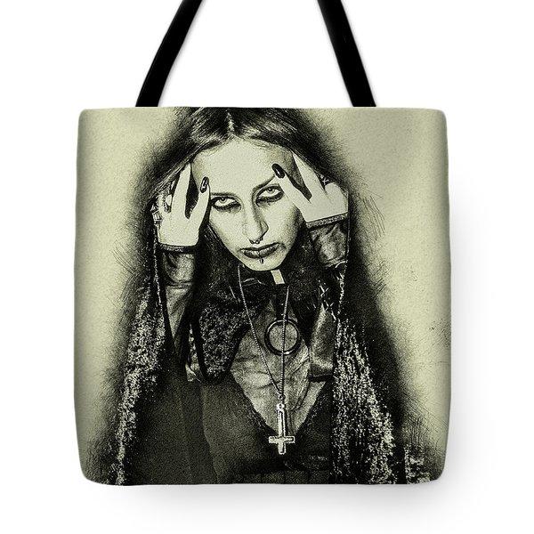 Gothic Female Model Tote Bag