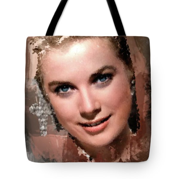 Grace Kelly, Vintage Hollywood Actress Tote Bag