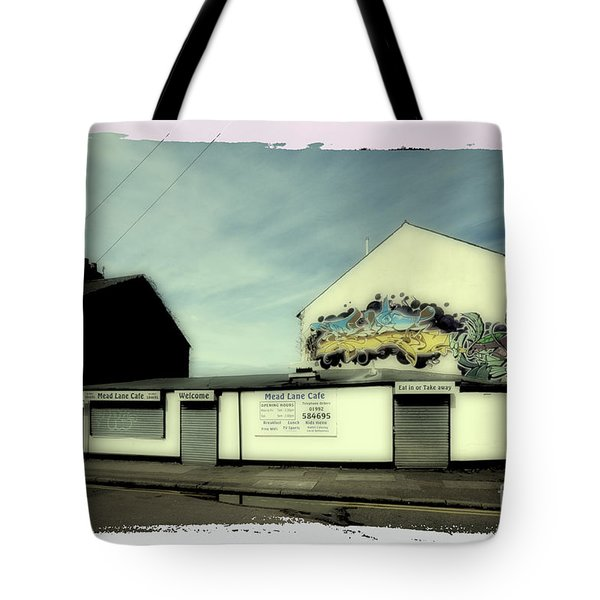 Graffiti Cafe Tote Bag