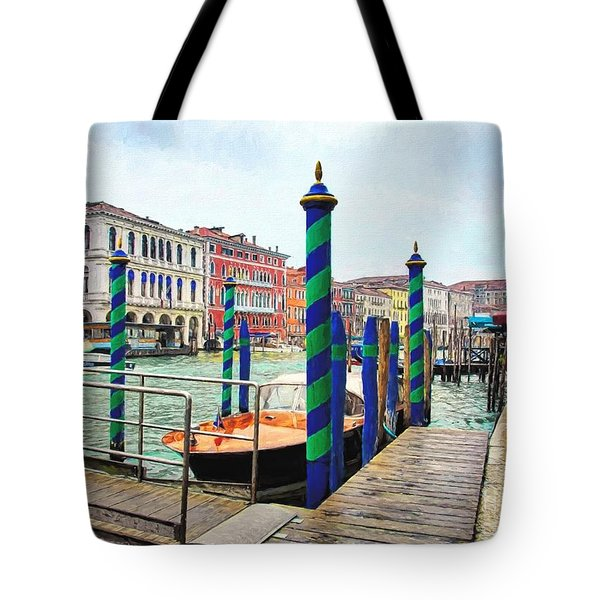 Tote Bag featuring the photograph Grand Canal In Venice # 2 by Mel Steinhauer