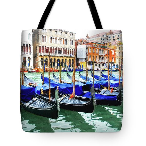 Tote Bag featuring the photograph Grand Canal In Venice by Mel Steinhauer