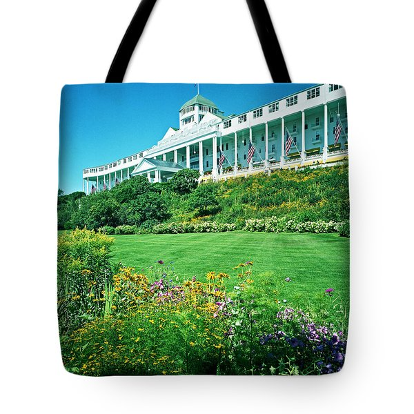 Grand Hotel From Tea Garden Tote Bag