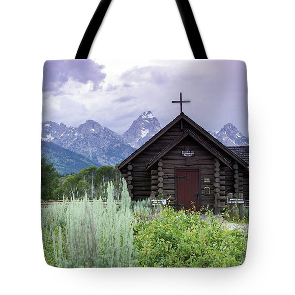 Grand Teton Church Tote Bag