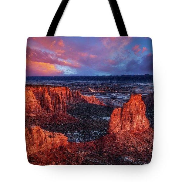 Grand View Sunrise Tote Bag