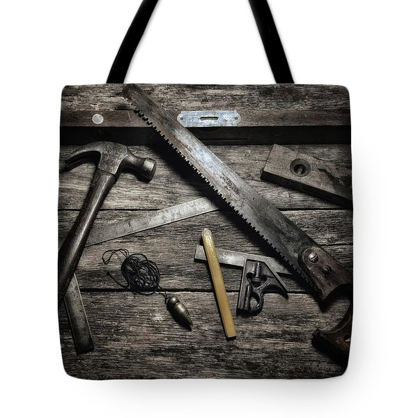 Tote Bag featuring the photograph Granddad's Tools by Mark Fuller
