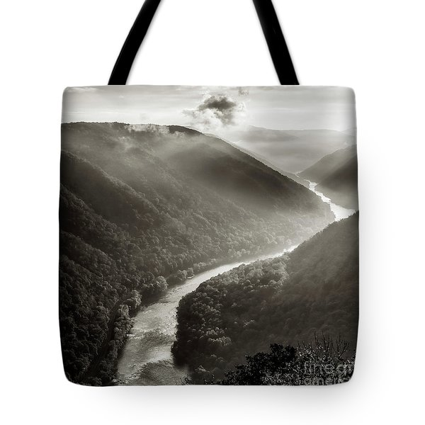 Grandview In Black And White Tote Bag