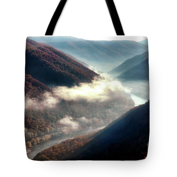 Grandview New River Gorge Tote Bag by Thomas R Fletcher