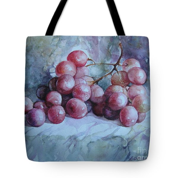 Tote Bag featuring the painting Grapes... by Elena Oleniuc
