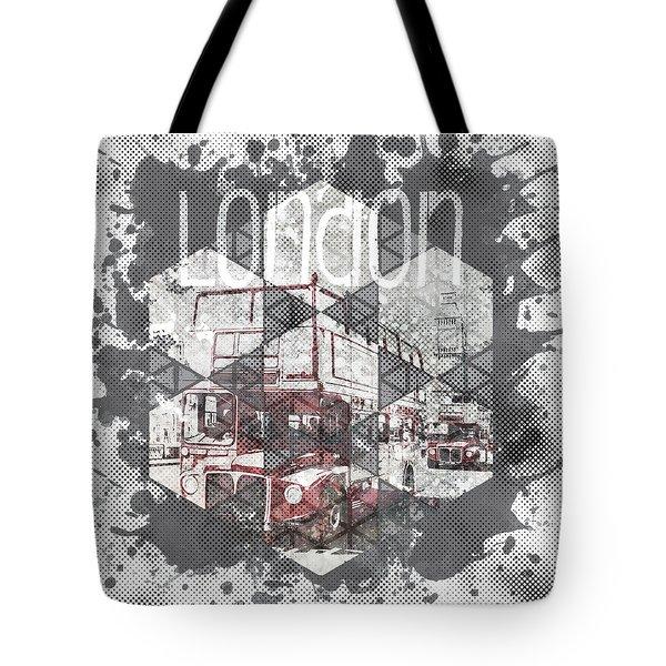 Graphic Art London Streetscene Tote Bag