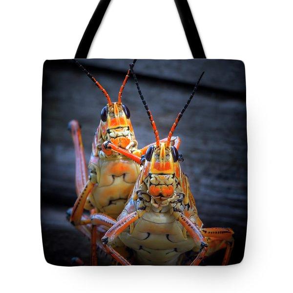 Grasshoppers In Love Tote Bag