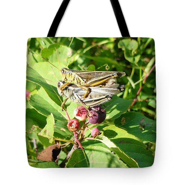 Grasshopper Love Tote Bag
