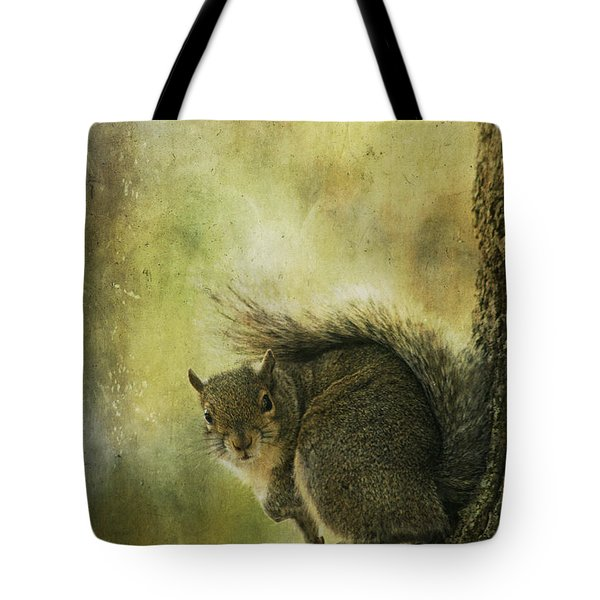 Gray Squirrel Tote Bag