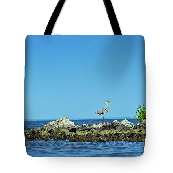 Great Blue Heron On The Chesapeake Bay Tote Bag
