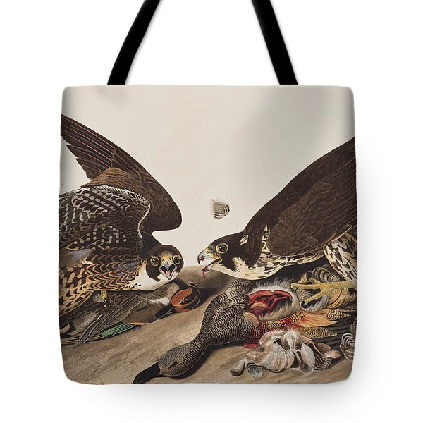 Great-footed Hawk Tote Bag by John James Audubon