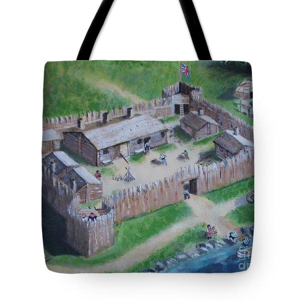 Great Lakes North Trading Post Tote Bag by Francine Heykoop