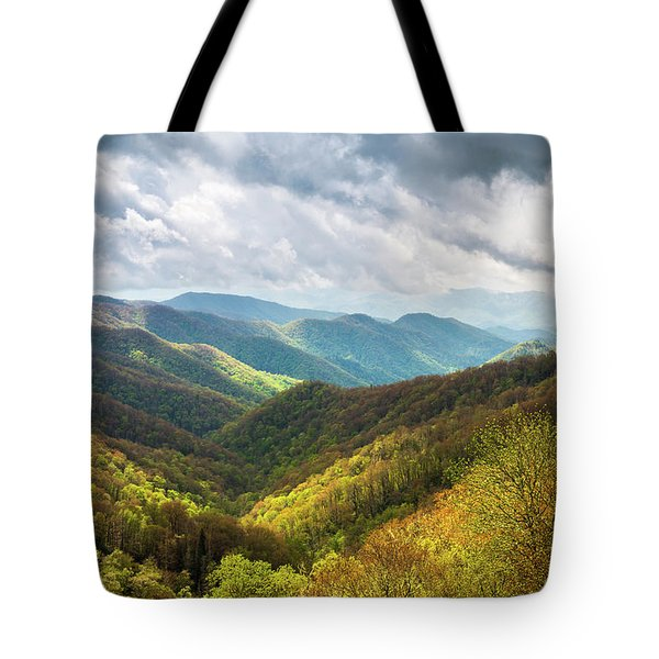 Great Smoky Mountains North Carolina Spring Scenic Landscape Tote Bag