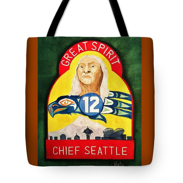 Great Spirit Seattle 12s Tote Bag by Rand Swift