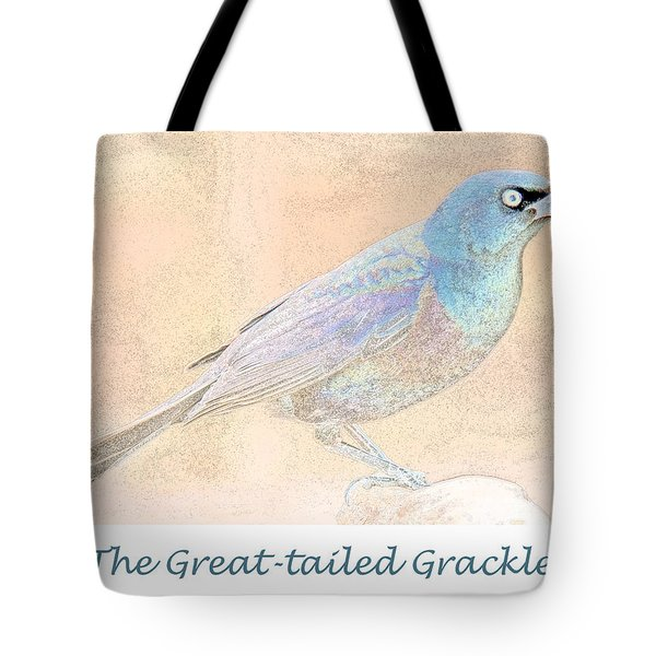 Tote Bag featuring the digital art Great Tailed Grackle by A Gurmankin