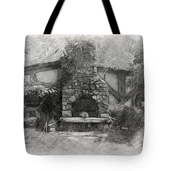 Green Dragon Inn Illustration Tote Bag