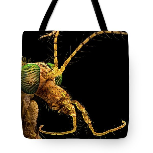 Tote Bag featuring the photograph Green Eyed Crane Fly by Mihai Andritoiu