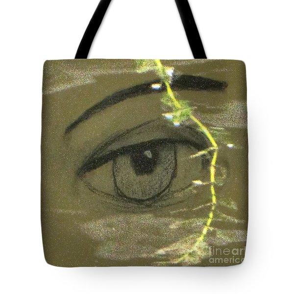 Green Eyes Tote Bag by Yury Bashkin