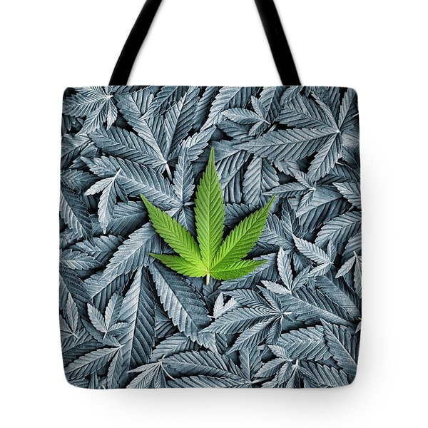 Green Tote Bag by Tim Gainey