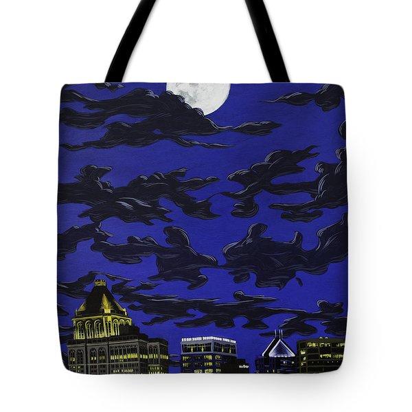 Greensboro Night Skyline Tote Bag